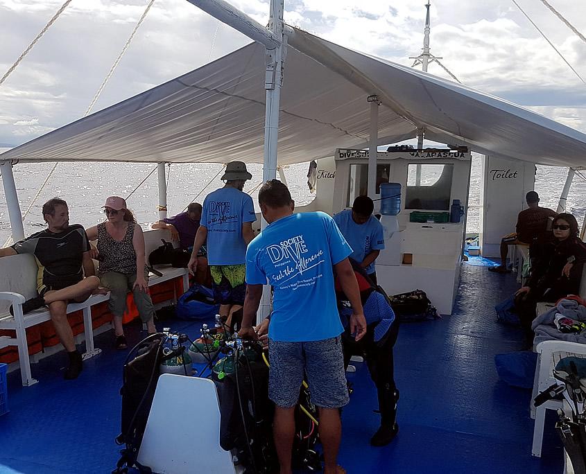 Dive boat Dive Society Malapascua
